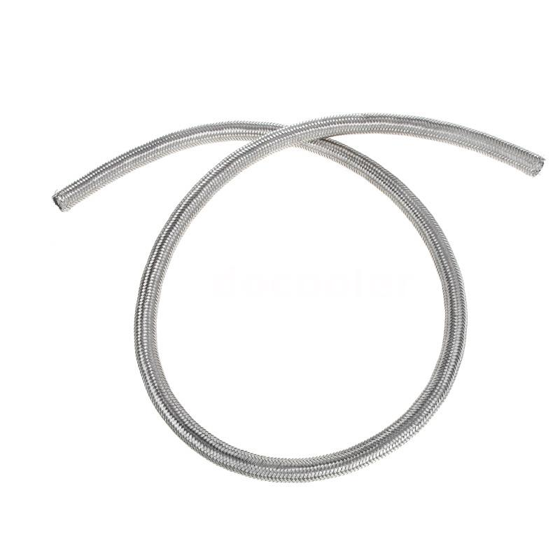 Braided Coolant Lines : An stainless steel braided fuel oil line hose m in ebay