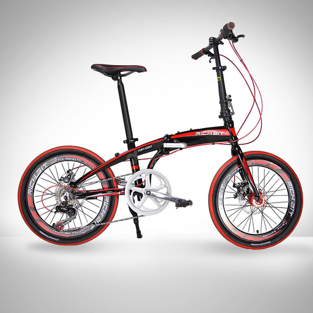 20″ Folding Bike 7-Speed Bicycle Fold Storage BLACK School Sports ...